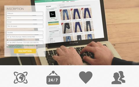 Screenshot of Signup Page shopitex.com - Shopitex  - Shopitex est une place de marché mode où les acheteurs & les fournisseurs se connectent. - Inscription - captured Oct. 1, 2014
