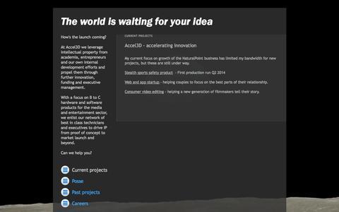 Screenshot of Home Page accel3d.com - ACCEL 3D - Accelerating Innovation - captured Sept. 30, 2014
