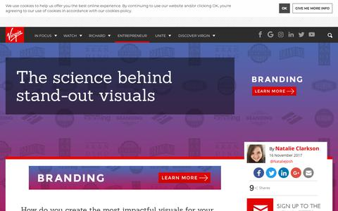 Screenshot of virgin.com - The science behind stand-out visuals | Virgin - captured Nov. 16, 2017