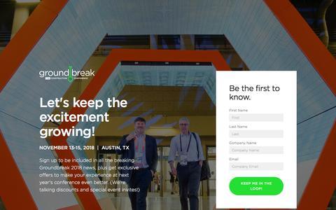 Groundbreak: THE Construction Conference | Procore