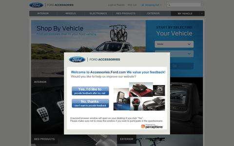 Screenshot of ford.com - Ford Accessories | The Official Site for Ford  Accessories | Customize Your Ford - captured March 20, 2016