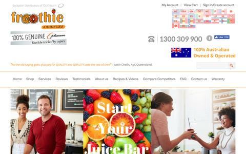 Screenshot of Services Page froothie.com.au - Start a juice Bar Setup in Australia | Business Plan Services | Juice Bar Equipment and Suppliers - captured June 6, 2017