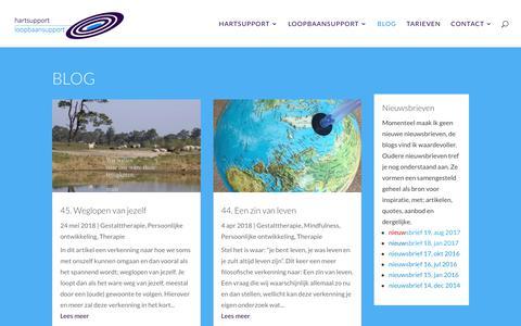 Screenshot of Blog hartsupport.nl - hartsupportblog; blogs over relevant geachte onderwerpen - captured July 16, 2018