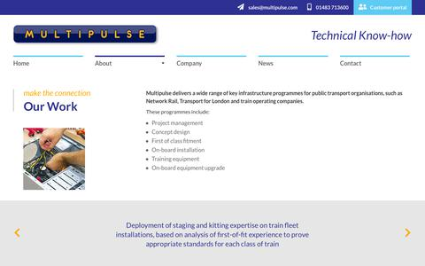 Screenshot of About Page multipulse.com - Our Work   Multipulse - captured Oct. 18, 2018