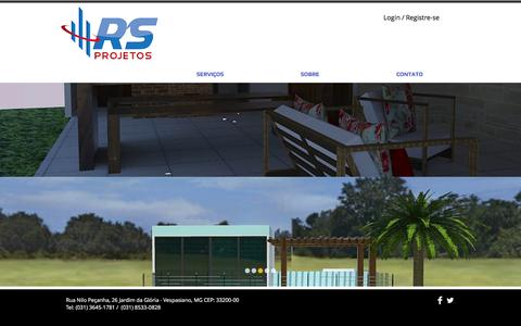 Screenshot of Home Page rsprojetos.com - RS projetos - captured Feb. 15, 2016