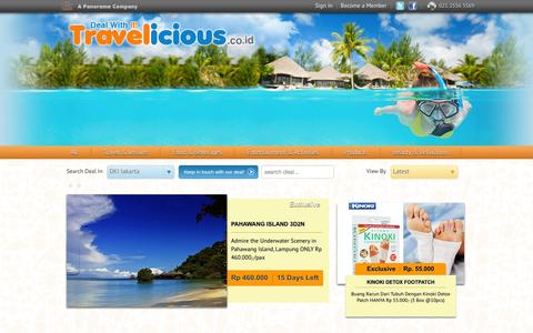 Screenshot of Products Page travelicious.co.id - Deal - Products - captured Sept. 23, 2014