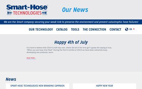 Screenshot of Press Page smarthose.com - Smart-Hose   The Connection - captured Oct. 7, 2014