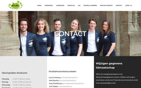 Screenshot of Contact Page usatlas.nl - Contact - USLAS Atlas - captured Nov. 15, 2018