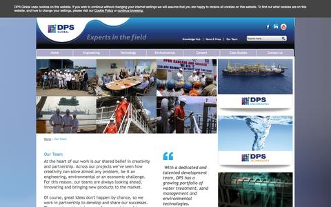 Screenshot of Team Page dps-global.com - Our Team - DPS Global - captured Oct. 5, 2014
