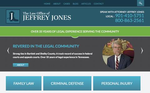 Screenshot of Home Page lawjj.com - Bartlett Family Law Attorney | Criminal Defense Lawyer - captured Aug. 29, 2015