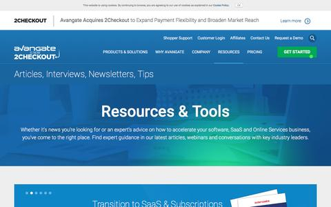 Screenshot of avangate.com - Software News   Commerce Resources   eCommerce Trends - captured April 22, 2017