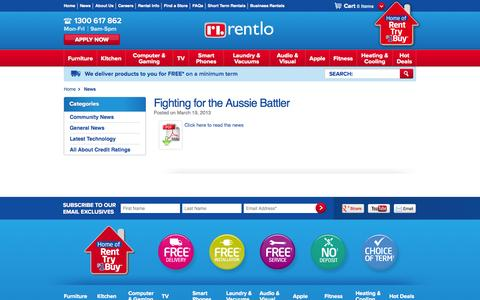 Screenshot of Press Page rentlo.com.au - News - captured Oct. 9, 2014