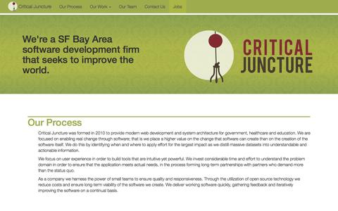 Screenshot of Home Page criticaljuncture.org - Critical Juncture - captured Dec. 13, 2015