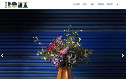 Screenshot of Home Page studioroex.com - Studio Roex - captured Feb. 26, 2016