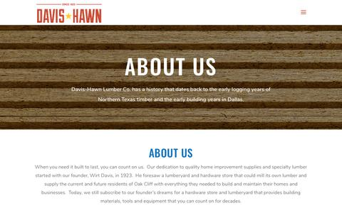 Screenshot of About Page davis-hawn.com - About Us - Davis Hawn - captured July 5, 2019