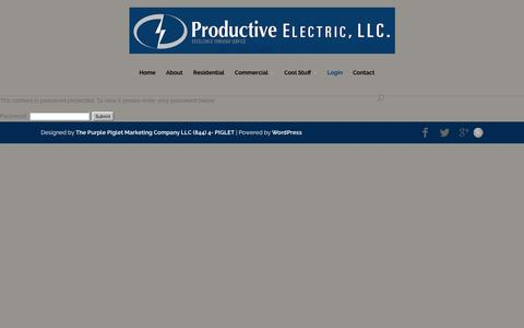 Screenshot of Login Page productiveelectric.com - EMPLOYEE PORTAL - Productive Electric LLC - captured Feb. 1, 2016