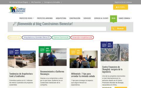 Screenshot of Blog coninsa.co -   Coninsa Ramon H - captured Aug. 21, 2017