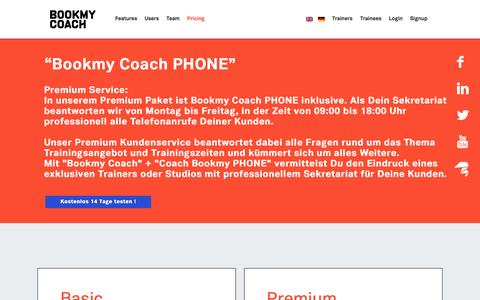 Screenshot of Pricing Page bookmycoach.de - Pricing | Bookmycoach - captured Jan. 7, 2016