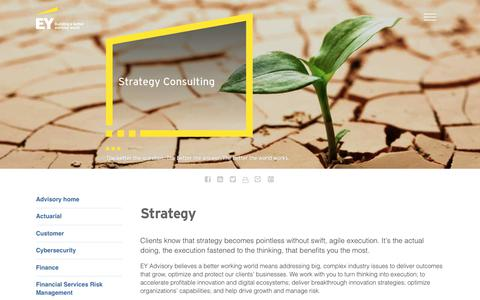 Screenshot of Services Page ey.com - Strategy Consulting in India by Professional Strategy Consultants - EY India - EY - India - captured Oct. 3, 2017