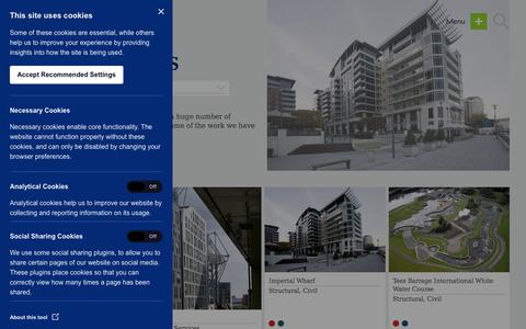 Screenshot of Case Studies Page patrickparsons.co.uk - Case Studies - Patrick Parsons - captured July 16, 2018