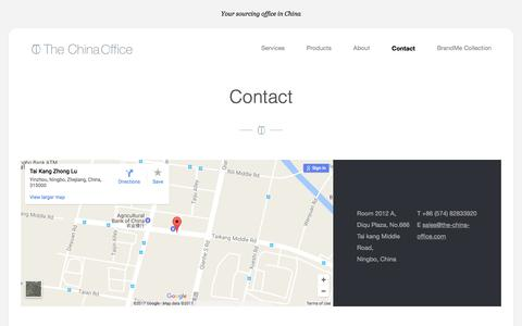Screenshot of Contact Page the-china-office.com - Contact    The China Office - captured June 14, 2017