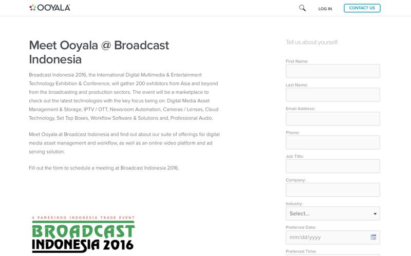 Meet Ooyala at Broadcast Indonesia
