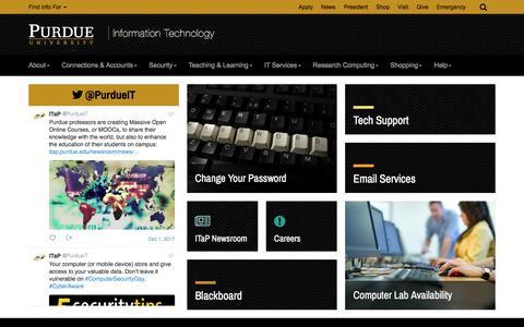 Information Technology -  Purdue University
