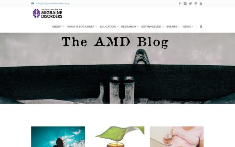 Screenshot of Blog migrainedisorders.org - Association of Migraine Disorders Blog - captured June 20, 2019