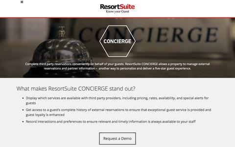 Concierge Software for Hotels and Resorts | ResortSuite