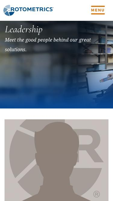 Screenshot of Team Page  rotometrics.com - Company Leadership   RotoMetrics