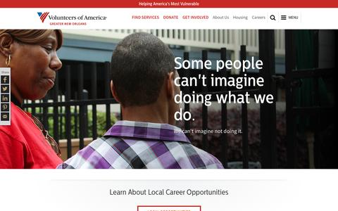 Screenshot of Jobs Page voagno.org - Local Careers | Volunteers of America - captured Nov. 30, 2016