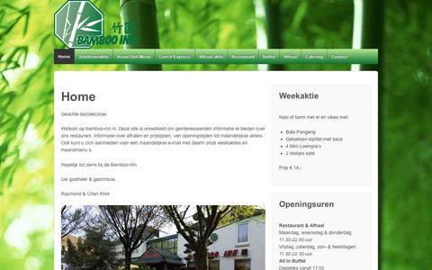 Screenshot of Home Page bamboo-inn.nl - Bamboo Inn - captured Oct. 12, 2015
