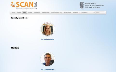 Screenshot of Team Page uoa.gr - SCAN | Team - captured Nov. 3, 2018