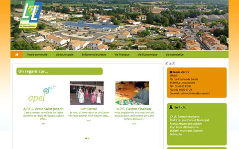 Screenshot of Home Page mairie-la-limouziniere.com - Le site officiel de la mairie de la Limouzinière - captured Oct. 16, 2015