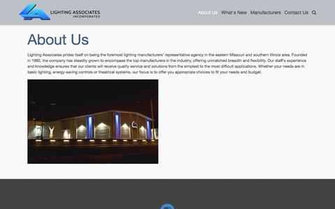 Screenshot of About Page laiweb.net - About Us - About Lighting Associates, Inc. - captured Jan. 29, 2016
