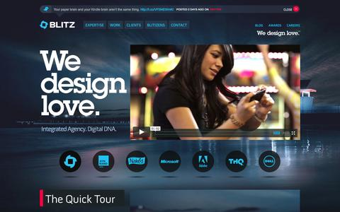 Screenshot of Home Page blitzagency.com - BLITZ – Full Service Digital Agency with Social Media Agency Capabilities - captured Sept. 23, 2014