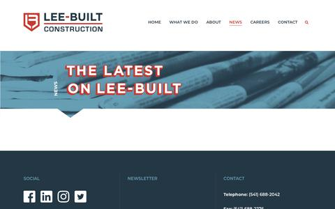 Screenshot of Press Page leebuilt.com - News | Lee-Built Construction - captured Sept. 28, 2018