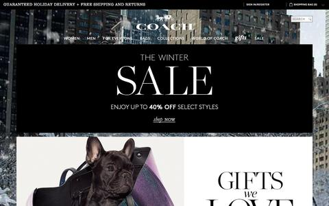 Screenshot of Home Page coach.com - COACH Official Site | Shop The Winter Sale This Holiday - captured Dec. 15, 2015