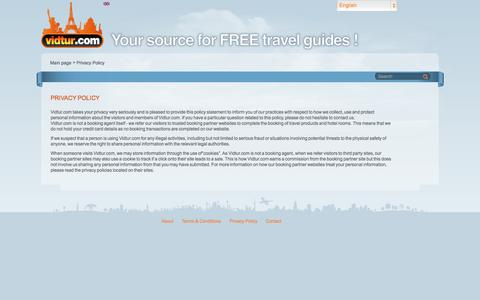 Screenshot of Privacy Page vidtur.com - Privacy Policy | Vidtur - captured Oct. 26, 2014