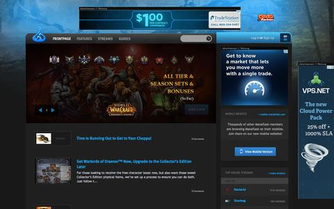 Screenshot of Home Page manaflask.com - Manaflask | Top Raiding: Guides, Streams, Interviews and Blogs - captured Sept. 19, 2014