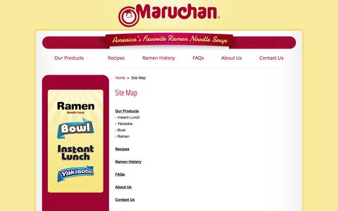 Screenshot of Site Map Page maruchan.com - Site Map | Maruchan - captured Nov. 27, 2016