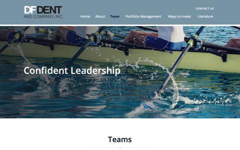 Screenshot of Team Page dfdent.com - Team - D.F. Dent & Co., Inc. - captured Oct. 7, 2018