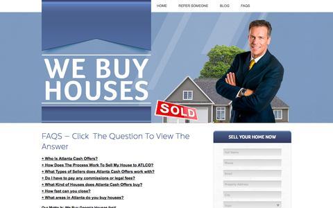 Screenshot of FAQ Page atlantacashoffers.com - We Buy Houses Atlanta - Sell Your House Fast Georgia | We Buy Georgia Houses Fast - captured Oct. 29, 2014