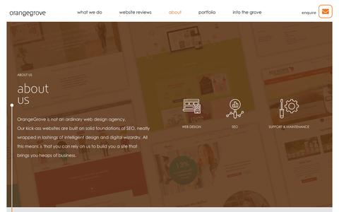Screenshot of About Page orangegrovedesigns.co.uk - About OrangeGrove | OrangeGrove Web Design Agency Reading - captured June 27, 2019