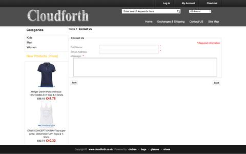 Screenshot of Contact Page cloudforth.co.uk - Contact Us : Buy Online clothes, bags, glasses, shoes - captured July 14, 2016