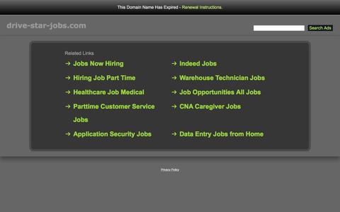 Screenshot of Home Page drive-star-jobs.com - Drive-Star-Jobs.com - captured Nov. 26, 2017