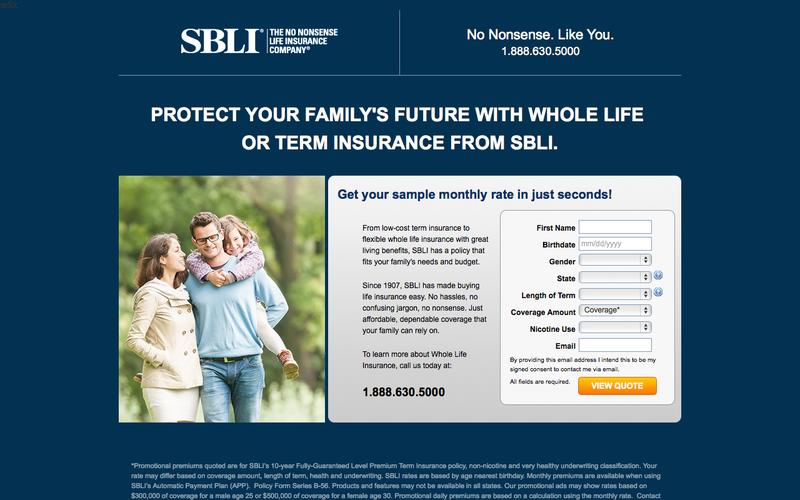 Great reates on term life insurance