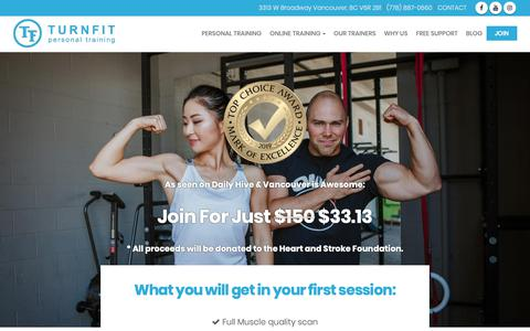 Screenshot of Signup Page turnfit.ca - Join Turnfit Personal Trainers   Best Personal Trainer Vancouver - captured Feb. 18, 2019