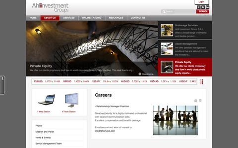Screenshot of Jobs Page ahliinvest.com - Ahli Investment Lebanon - Careers - captured Feb. 5, 2016