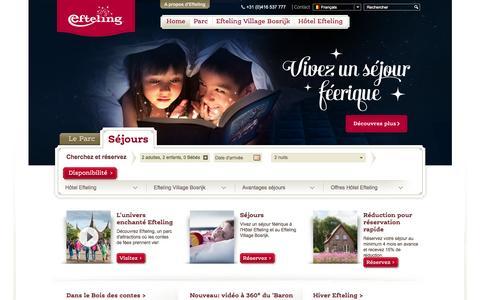 Screenshot of Home Page efteling.fr - Efteling  - Efteling - captured Jan. 20, 2016